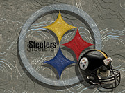 Pittsburgh Digital Art Prints - Pittsburgh Steelers Print by Jack Zulli