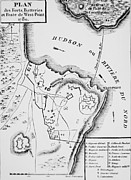 Maps Painting Prints - Plan of West Point Print by French School