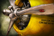 Engine Art - Plane - Pilot - Prop - Twin Wasp by Mike Savad