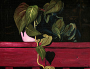 Potted Plant Paintings - Plant With Vine at Night by Arch