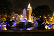 All-star Framed Prints - Plaza Fountain Framed Print by Raye Pond