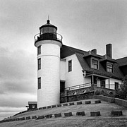 Jeff Burton Metal Prints - Point Betsie Lighthouse Metal Print by Jeff Burton