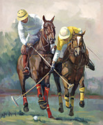 Kentucky Derby Painting Originals - Polo by Laurie Hein