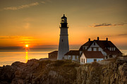 Clarence Holmes - Portland Head Light at Sunrise II