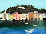 Tuscany Posters - Portofino By The Sea Poster by Larry Cirigliano