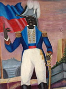 Freed Framed Prints - Portrait of a Revolunionist Framed Print by Haitian artist