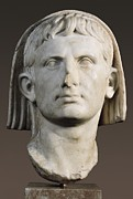 Statue Portrait Photos - Portrait Of Augustus As Pontifex by Everett
