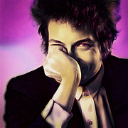 Bob Dylan Digital Art - Portrait of bob dylan by Sippapas Thienmee