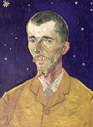 Backdrop Paintings - Portrait of Eugene Boch by Vincent Van Gogh