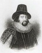 Male Prints - Portrait of Francis Bacon Print by English School