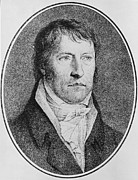 Featured Drawings - Portrait of Georg Wilhelm Friedrich Hegel  by FW Bollinger