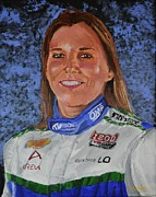 Indy Car Posters - Portrait of Simona Poster by P D Morris