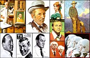 Johnny Carson Prints - Portraits Print by Norman Rockwell