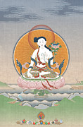 Tibet Mixed Media Prints - Prajnaparamita Print by Chris Banigan