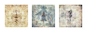 Himalayas Prints - Prayer Flag Triptych Print by Carol Leigh