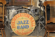 Drum Kit Prints - Preservation Hall Jazz Band Drum Print by Bradford Martin
