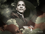 President Obama Digital Art Prints - President Barack Obama Print by Lynda Payton