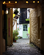 Narrow Perspective Framed Prints - Pretty Back Alley Framed Print by Terri  Waters