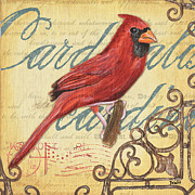 Cardinal Paintings - Pretty Bird 1 by Debbie DeWitt