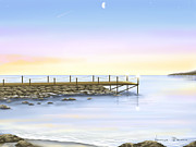 Breakwater Framed Prints - Prime luci Framed Print by Veronica Minozzi