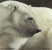 Polar Bears Paintings - Prince of the North Pole by Will Bullas