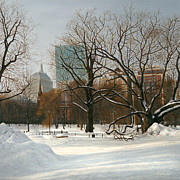 Boston Paintings - Pru View Boston Common by OMalley Keyes