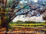 Esus Framed Prints - Psalm 116 9 Framed Print by Michelle Greene Wheeler