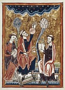 Miniatures Art - Psalter Of Saint Louis And Of Blanca De by Everett