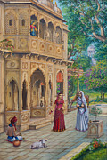 Ananda Paintings - Purnamasi in house of Kirtida by Vrindavan Das