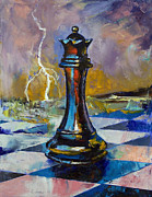 Surreal Landscape Painting Metal Prints - Queen of Chess Metal Print by Michael Creese