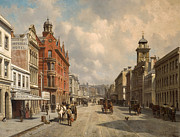Famous Artists - Queen Street. Auckland by Jacques Carabain