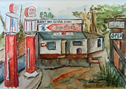 Historic Country Store Prints - Rabbit Hash Pumps Print by Elaine Duras