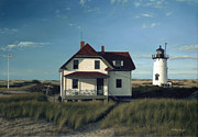 Lighthouse Prints - Race Point Lighthouse Print by OMalley Keyes