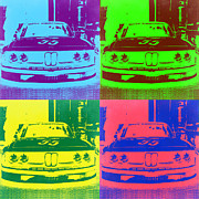 Bmw Prints - Racing BMW Pop Art 1 Print by Irina  March
