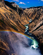 Edward Fielding - Rainbow at the Grand Canyon Yellowstone...