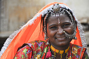 Jewellery Prints - Rajasthani woman  Print by Judith Katz