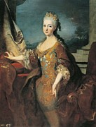 Portrait Of Woman Photo Framed Prints - Ranc, Jean 1674-1735. Portrait Framed Print by Everett