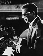 Piano Player Prints - Ray Charles At The Piano Print by Underwood Archives