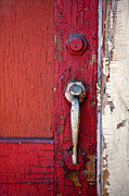 Knob Photo Prints - Red Door Print by Peter Tellone