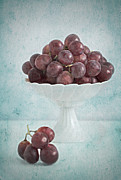 Grapes Art Deco Posters - Red Grapes  Poster by Corinna  Gissemann