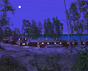 Kirkland Digital Art Prints - Red Pines Print by Mark Didine