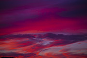 Red Sunsets Framed Prints - Red Sky Twilight Framed Print by Garry Gay