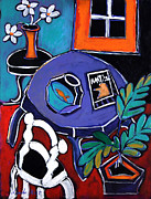 Interior Still Life Paintings - Remembering Matisse by Linda Holt