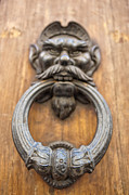 Mancave Photos Posters - Renaissance Door Knocker Poster by Melany Sarafis