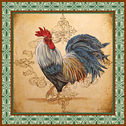Coq Paintings - Renaissance Rooster-C-GREEN by Jean Plout