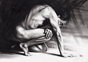 Pensive Drawings Originals - Resting Il by Paul Davenport