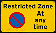 Warning Drawings - Restricted Zone at any time by Shawn Hempel