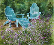 Peaceful Scene Paintings - Retirement II by Patsy Sharpe