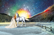 Bride Of Christ Prints - Revelation Ride Print by Dolores DeVelde