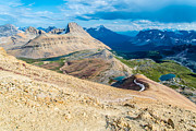 Canada Photo Metal Prints - Ridge to Cirque Peak Metal Print by Ian Stotesbury